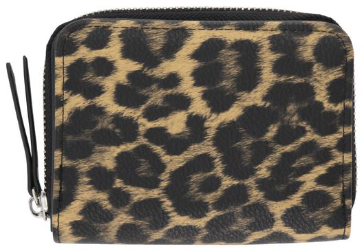 HEMA Portemonnaie, 9 X 12 Cm, Leopardenmuster