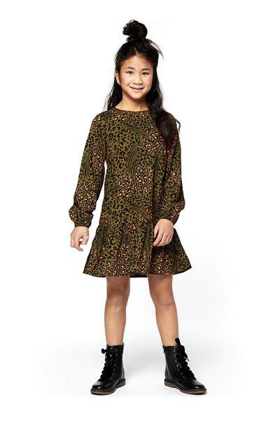 Kinder-Kleid graugrün graugrün - 1000018167 - HEMA