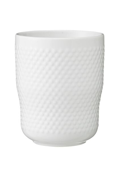 mug - 300 ml - Bergen - white small ball relief - 9670059 - hema