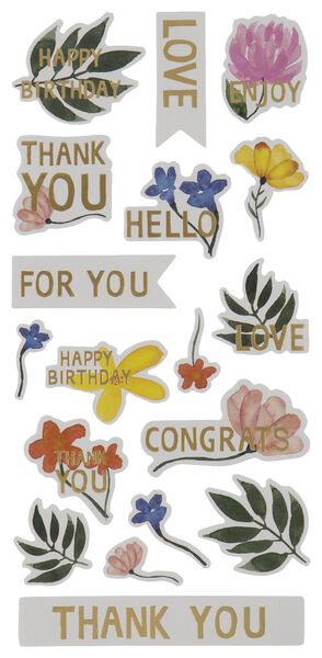 Aufkleber, Blumen, 5 Blatt - 14700456 - HEMA