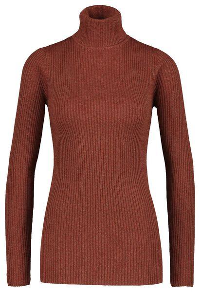 women's turtle-neck sweater brown brown - 1000017498 - hema