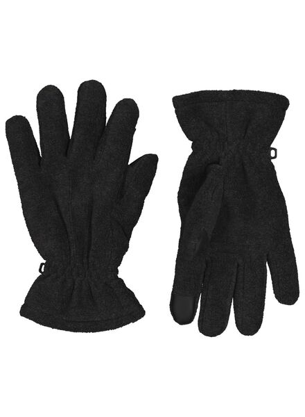 men's gloves fleece grey grey - 1000017108 - hema