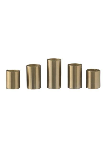 bougeoir, magnétique - or - 5 unités - 13382074 - HEMA