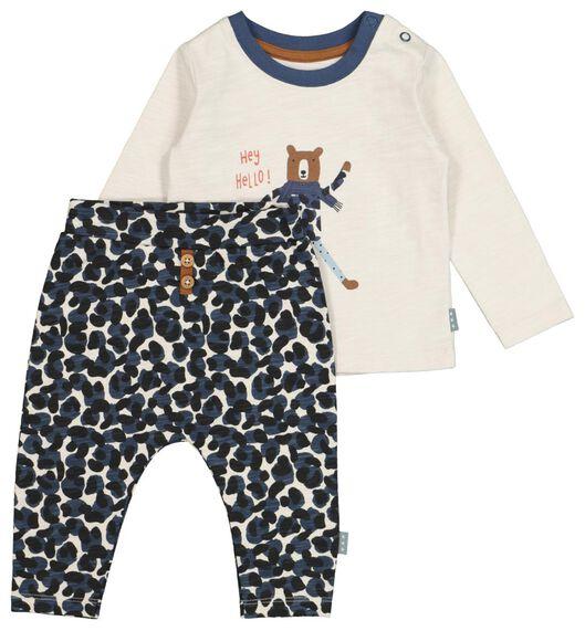 HEMA Newborn-Set, T-Shirt Mit Hose, Baumwolle Dunkelblau