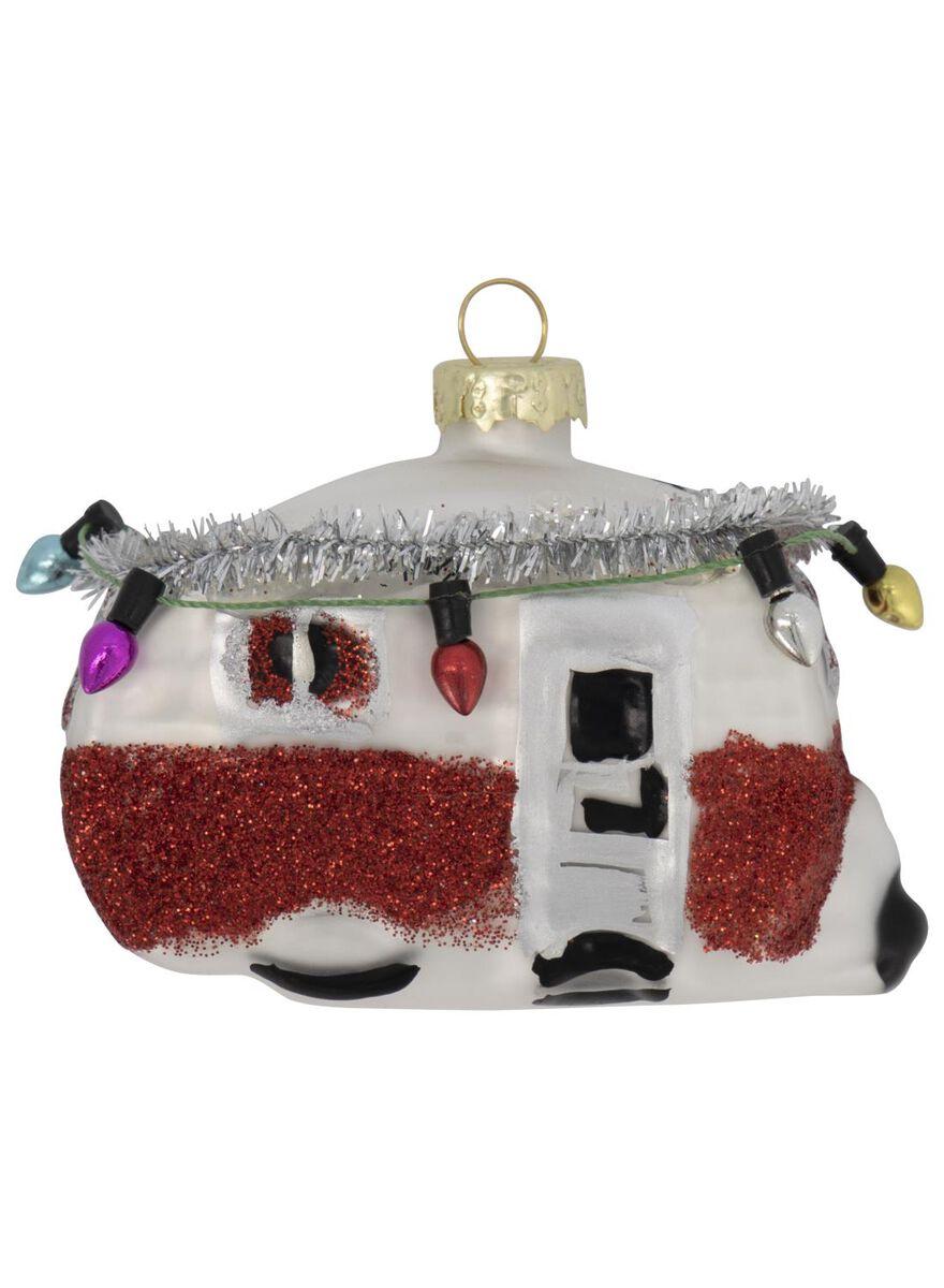 décoration de Noël en verre caravane 4x8x6 - 25104839 - HEMA