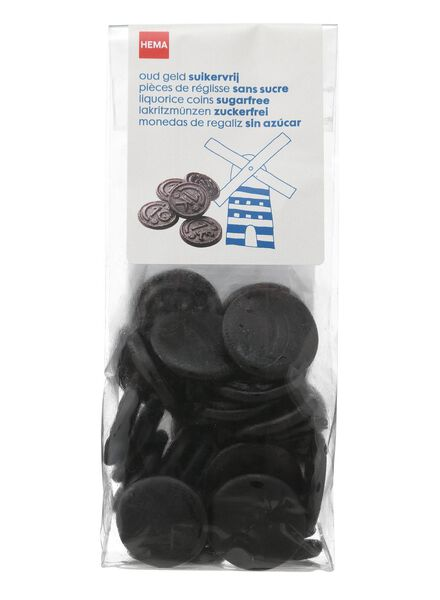 traditional Dutch liquorice coins - sugar-free 130 grams - 10500015 - hema