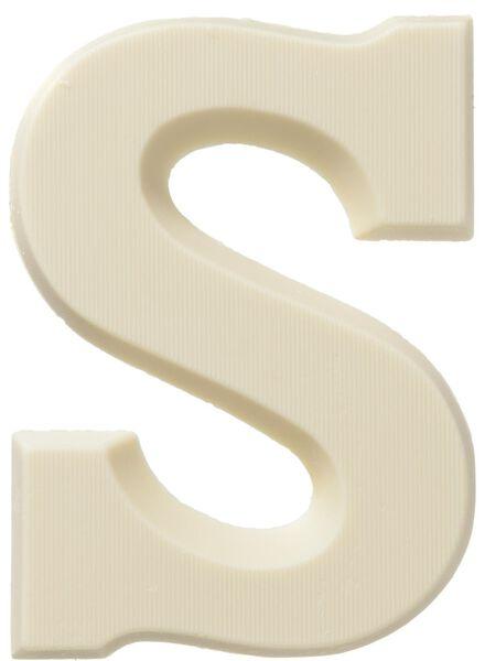 white chocolate letter S - 10037016 - hema