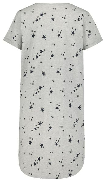 women's nightshirt grey melange XL - 23420594 - hema