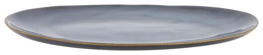 bowl oval - 30 cm - Porto - reactive glaze - dark blue - 9602224 - hema