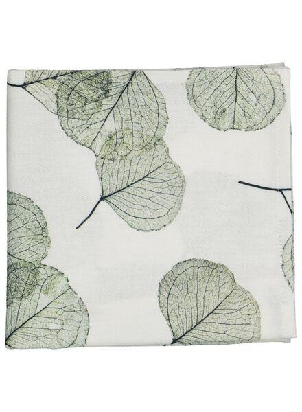 torchon 65x65 feuilles - blanc/vert - 5400139 - HEMA