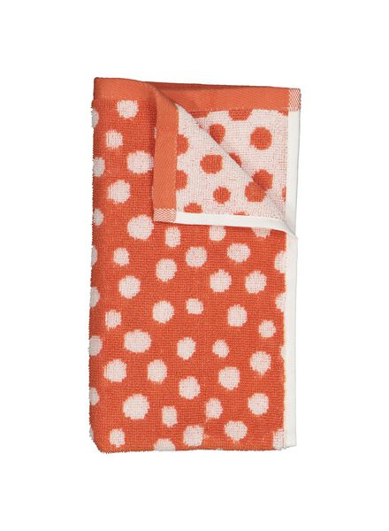 guest towel - 30 x 55 cm - heavy quality - coral dotted - 5230007 - hema
