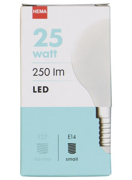 LED light bulb 25W - 250 lm - bullet - matt - 20020033 - hema