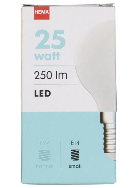 LED-Kugellampe, 25 W, 250 lm, matt - 20020033 - HEMA