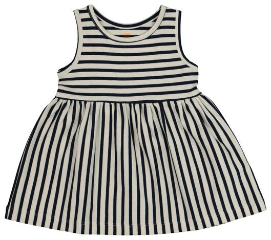 Babykleiderroecke - HEMA Baby Kleid, Ärmellos, Biobaumwolle Blau - Onlineshop HEMA