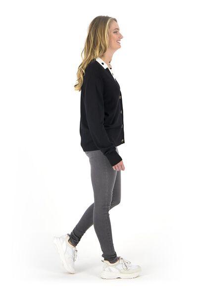 jean femme - modèle shaping skinny gris moyen gris moyen - 1000018247 - HEMA