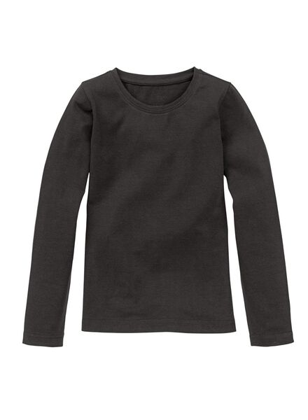 children´s T-shirt - organic cotton black black - 1000006883 - hema