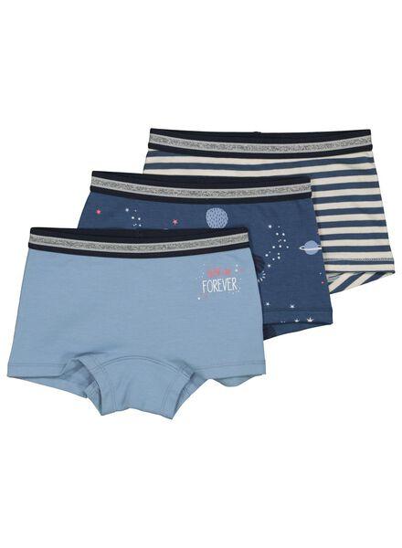 3er-Pack Kinder-Boxershorts blau blau - 1000014929 - HEMA