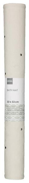 tapis de bain 53x53 caoutchouc antidérapant blanc - 80380013 - HEMA
