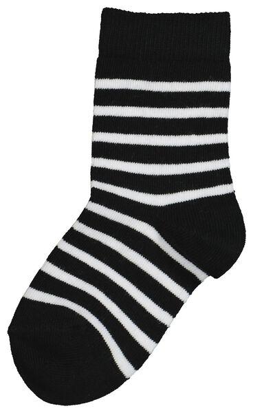Kinder-Socken – Mini-me schwarz/weiß schwarz/weiß - 1000019296 - HEMA