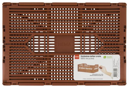 caisse pliante tableau recyclée 20x30x11.5 terracotta - 39821022 - HEMA