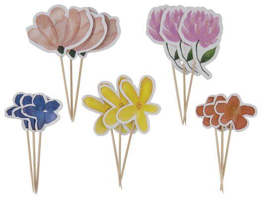 15 piques à cocktail 10cm fleurs - 14200438 - HEMA