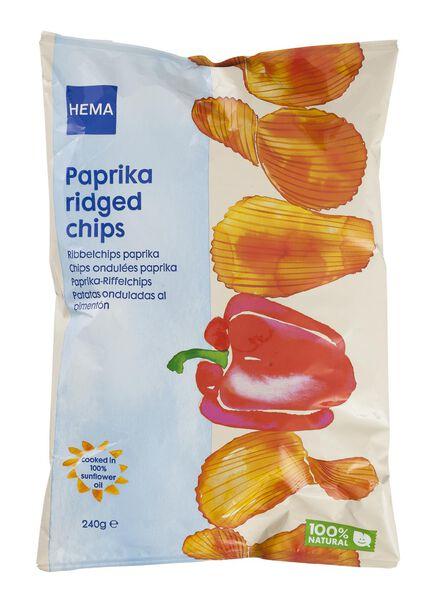 ridged potato crisps paprika - 10661127 - hema