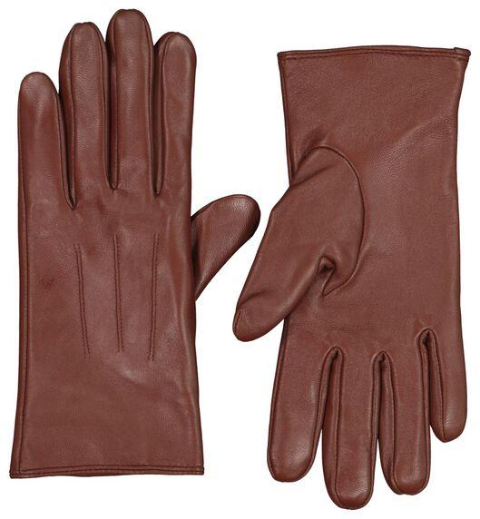 women's gloves touchscreen leather cognac cognac - 1000020397 - hema