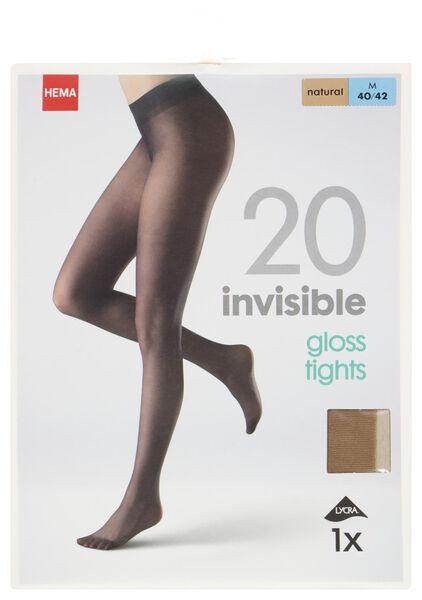 Strumpfhose, glänzend, 20 Denier naturfarben naturfarben - 1000000965 - HEMA