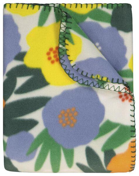 couverture 130x150 polaire fleurs - 41820358 - HEMA
