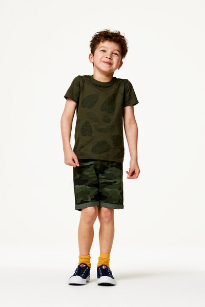 2er-Pack Kinder-Shorts dunkelgrün 86/92 - 30738451 - HEMA