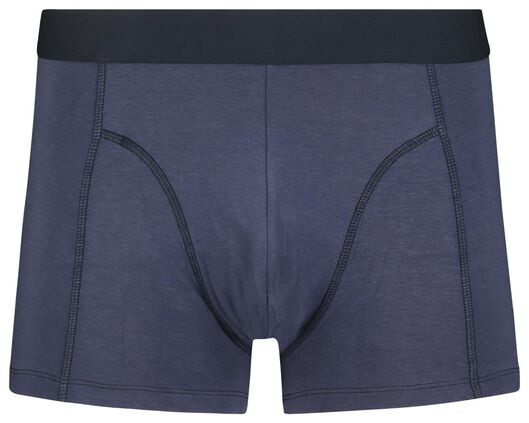 2-pack men's boxer shorts short with bamboo blue blue - 1000018791 - hema