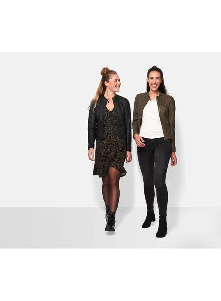 veste cuir femme vert armée vert armée - 1000010545 - HEMA