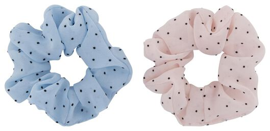 scrunchies stippen - 2 stuks - 11800058 - HEMA