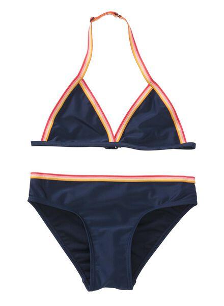 Kinder-Bikini dunkelblau - 1000011911 - HEMA