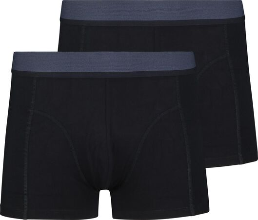2-pack men's boxer shorts short with bamboo dark blue dark blue - 1000018790 - hema
