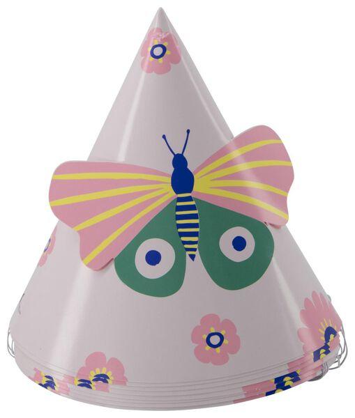 8 paper party hats Ø12cm butterfly - 14200419 - hema