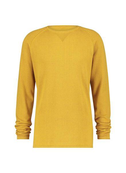 knitted men's sweater - organic cotton yellow yellow - 1000016883 - hema
