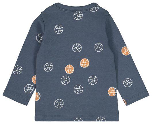 baby t-shirt streep blauw blauw - 1000022153 - HEMA
