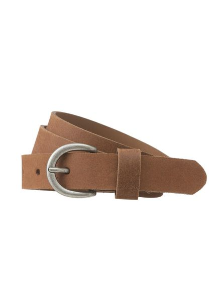 ceinture femme en cuir marron marron - 1000012929 - HEMA