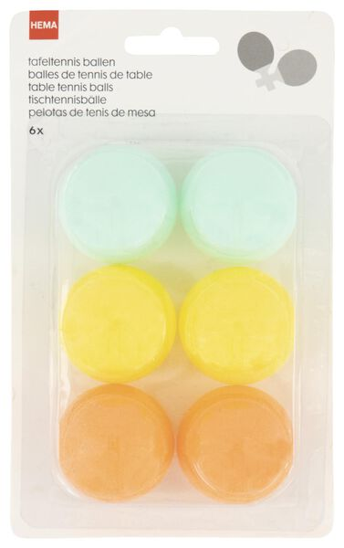 6er-Pack Tischtennisbälle - 15810089 - HEMA