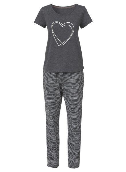 Waesche für Frauen - HEMA Damen Pyjama Graumeliert  - Onlineshop HEMA