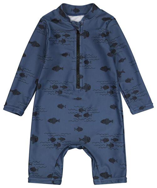 Babybademode - HEMA Baby Badeanzug Mit UV Schutz, Fische Blau - Onlineshop HEMA