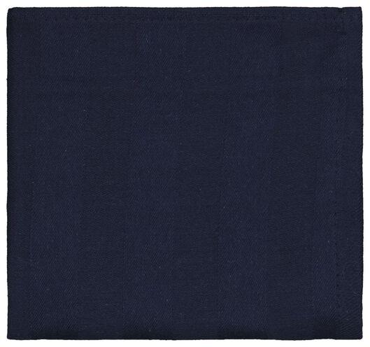 Geschirrtuch, 65 x 65 cm, Baumwolle, dunkelblau - 5410126 - HEMA