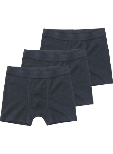 3-pack children's boxers blue blue - 1000011775 - hema