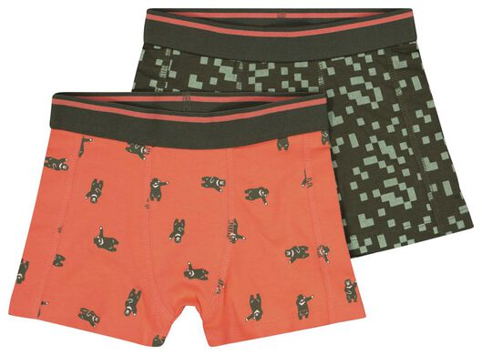 2-pack children's boxers red red - 1000017793 - hema