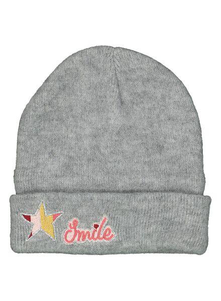 bonnet enfant gris chiné gris chiné - 1000014452 - HEMA