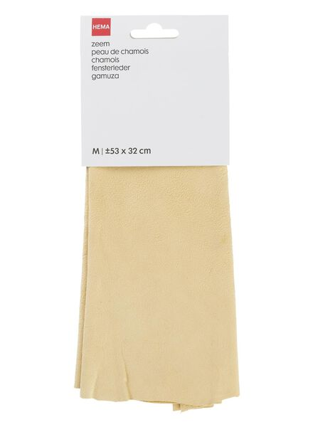 natural chamois leather 53 x 32 cm - 20540104 - hema