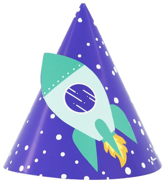 6 paper party hats space - 14210152 - hema