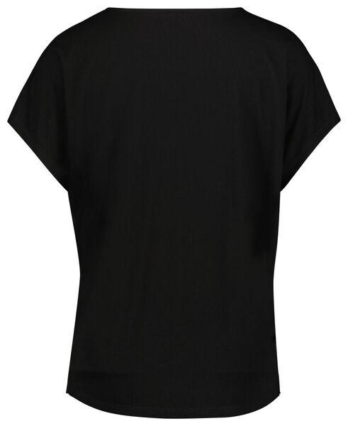 dames t-shirt zwart S - 36240351 - HEMA