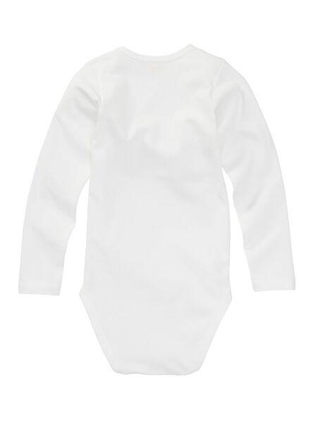 Zwei Bodys - Bio-Baumwollstretch weiß weiß - 1000005204 - HEMA